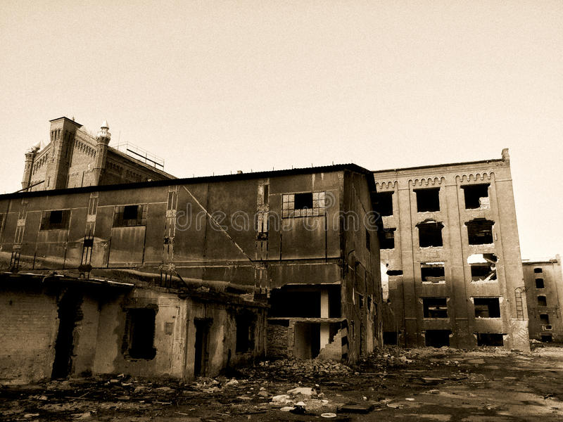 Ruines de moulin d'Assan photo stock