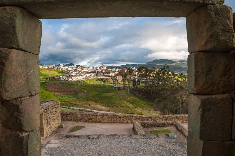 Ruines de mur d'Inca d'Ingapirca en Equateur photo stock