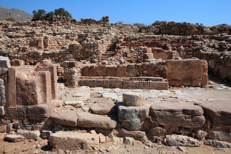 Ruines de palais de Zakros, Crète photos stock