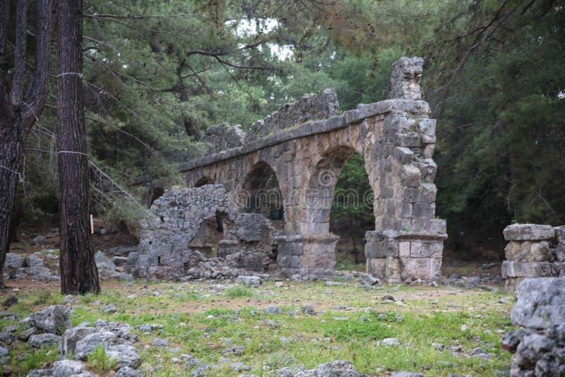 Ruines de Phaselis en Turquie image libre de droits