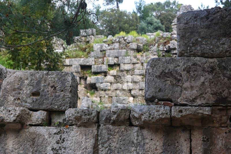 Ruines de Phaselis en Turquie photographie stock