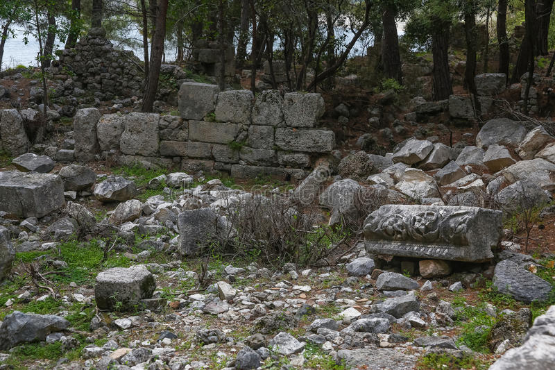 Ruines de Phaselis en Turquie photos stock