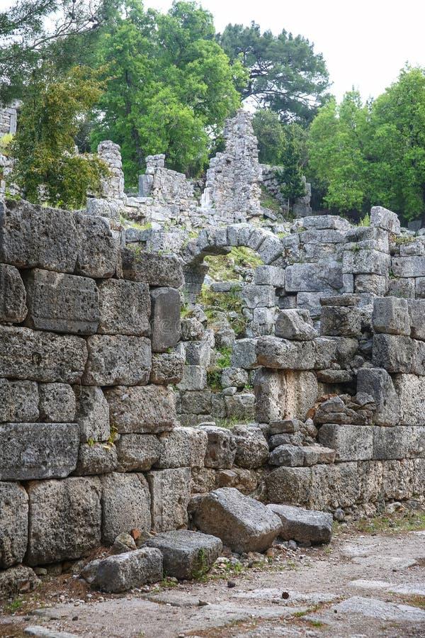 Ruines de Phaselis en Turquie images stock