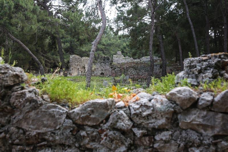 Ruines de Phaselis en Turquie photos libres de droits