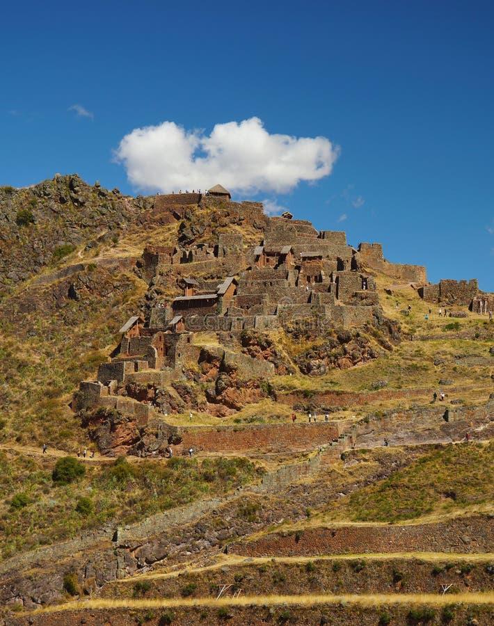 Ruines de Pisac. Vallée sacrée, Cuzco, Pérou image libre de droits