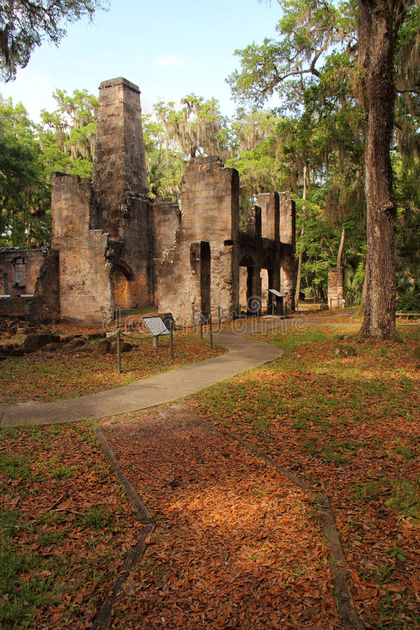 Ruines de plantation de Bulow image libre de droits