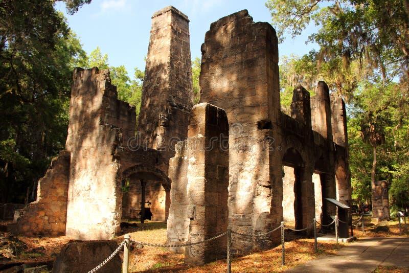 Ruines de plantation de Bulow photo libre de droits