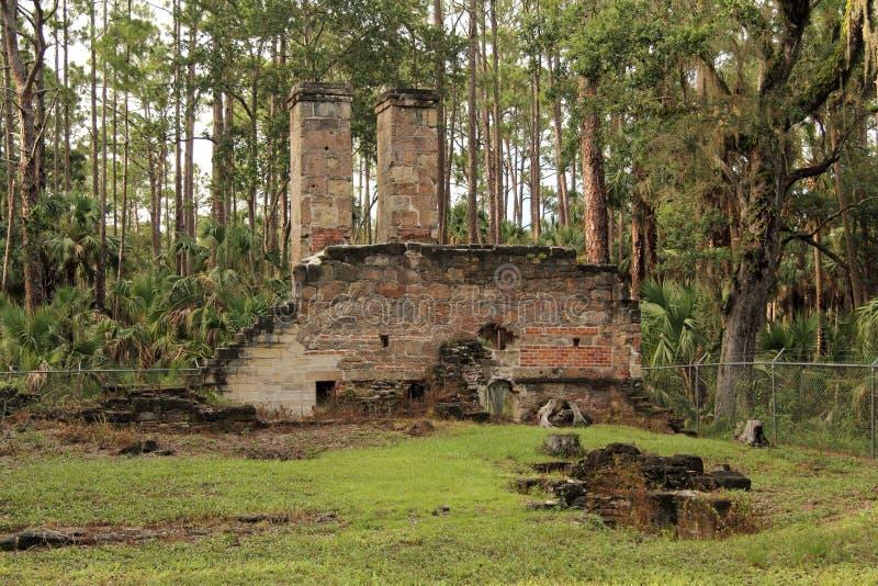 Ruines de plantation de Dummett image stock