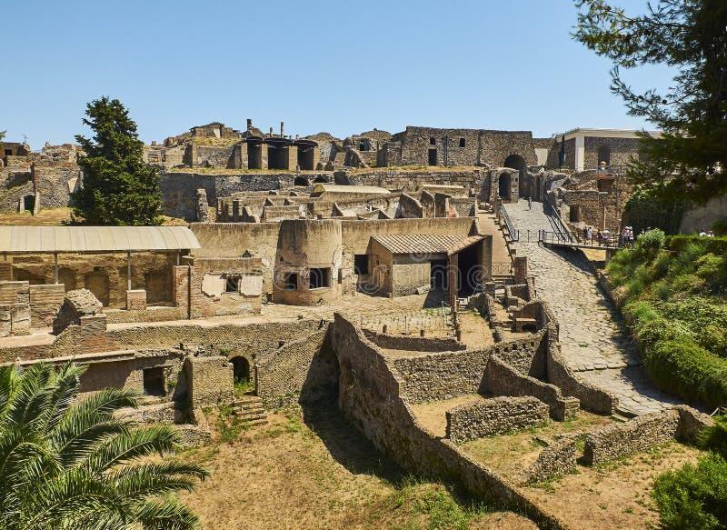 Ruines de Pompeii, ville romaine antique Pompéi, Campanie l'Italie images libres de droits