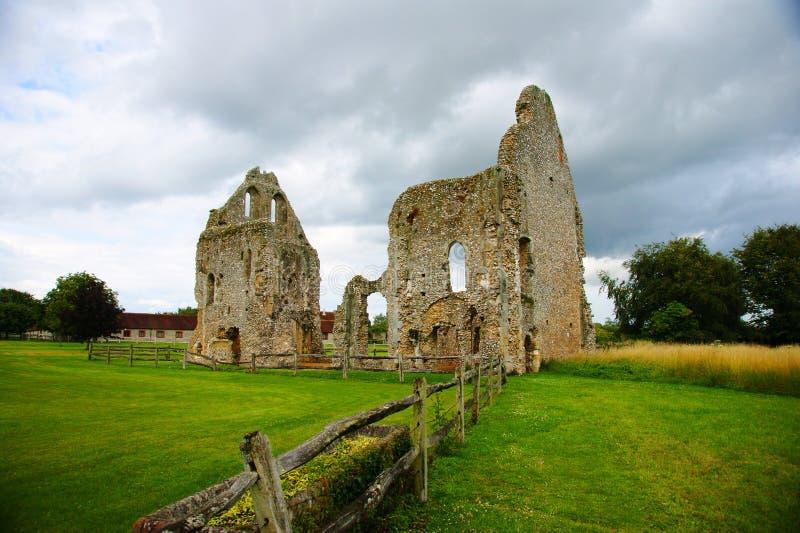 Ruines de prieuré de Boxgrove photo libre de droits
