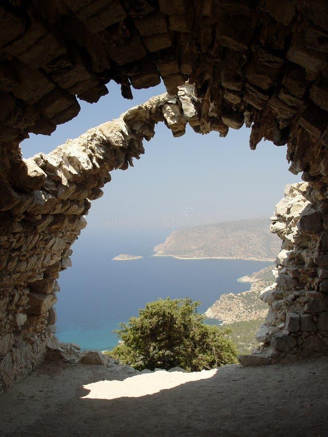 ruines de Rhodes image stock
