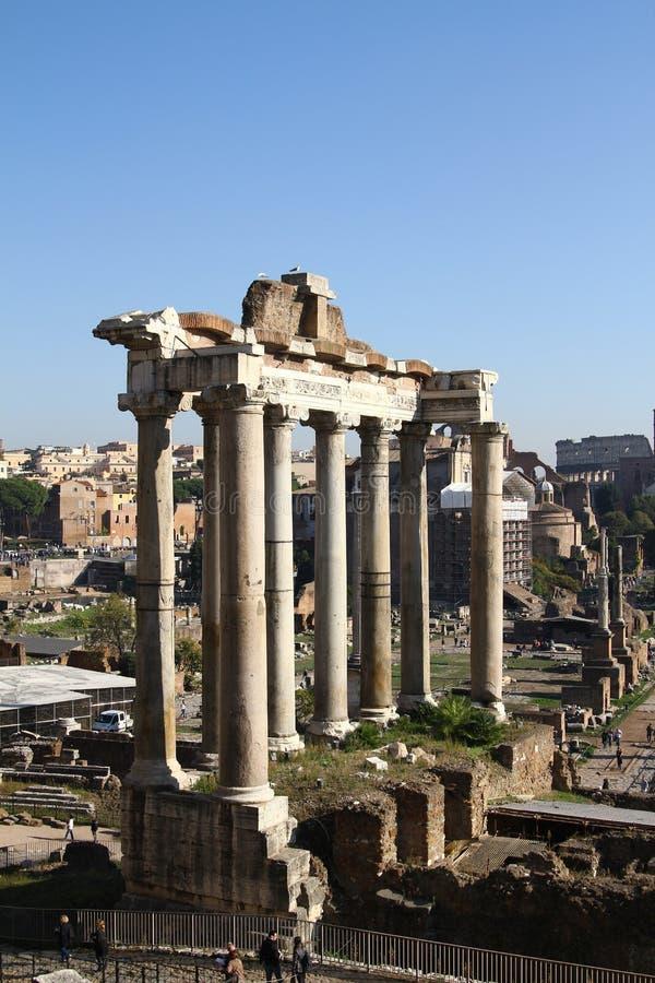 Ruines de Rome antique photographie stock libre de droits