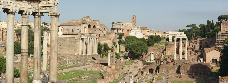 ruines de Rome de panorama images stock