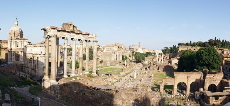 ruines de Rome de panorama photos libres de droits