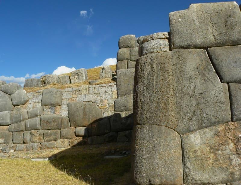 Ruines de Sacsayhuaman, Cuzco, Pérou. image libre de droits