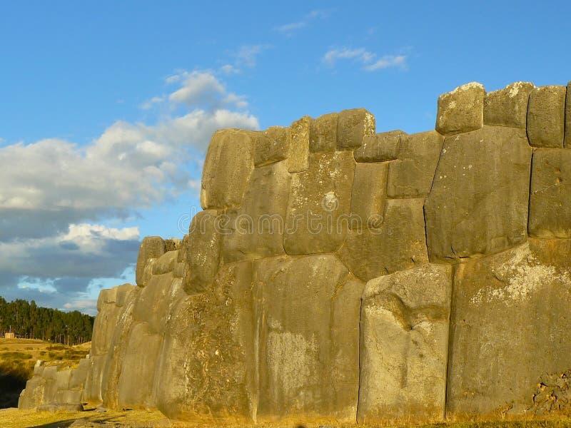 Ruines de Sacsayhuaman, Cuzco, Pérou. photographie stock libre de droits