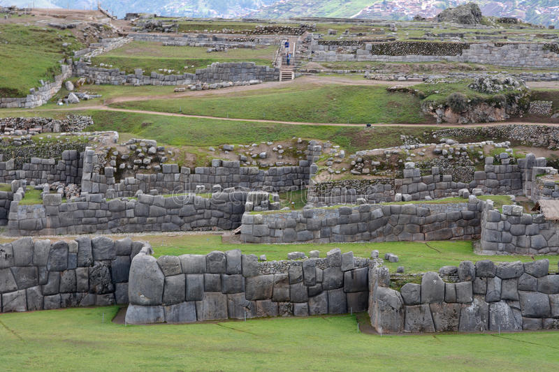 Ruines de Sacsayhuaman, Cuzco, Pérou photo stock