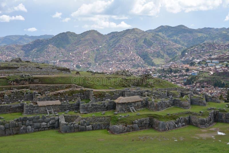 Ruines de Sacsayhuaman, Cuzco, Pérou images libres de droits