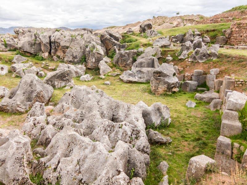 Ruines de Sacsayhuaman, Cuzco, Pérou image libre de droits