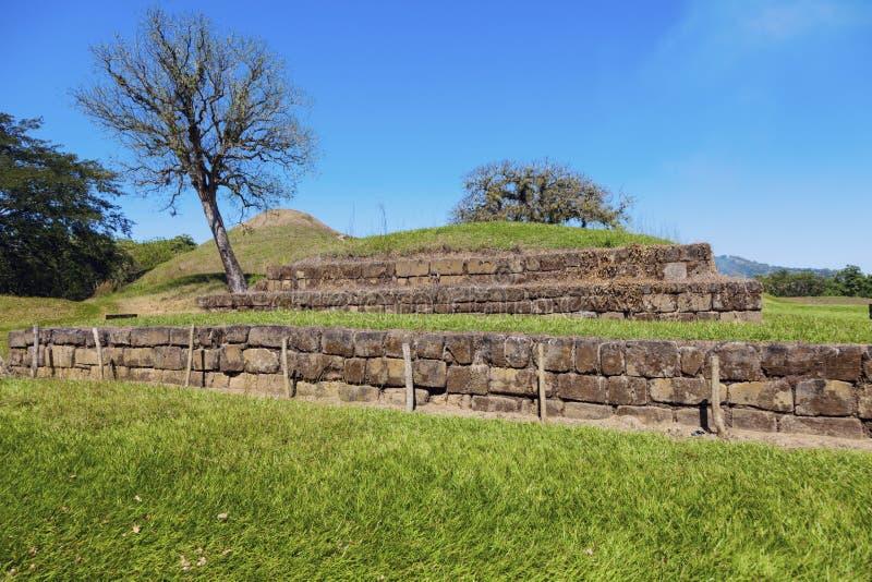 Ruines de San Andres au Salvador image stock