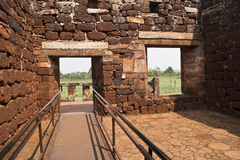 Ruines de San Ignacio photographie stock
