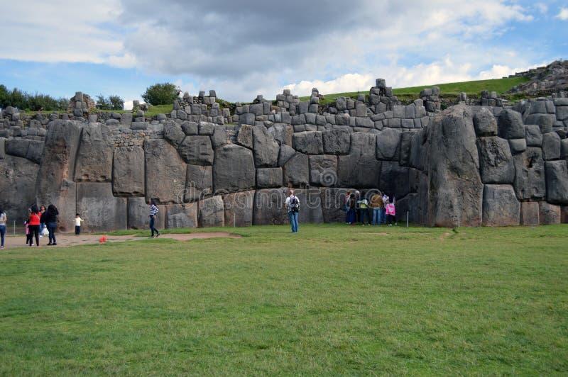 Ruines de Saqsaywaman - Pérou photo stock
