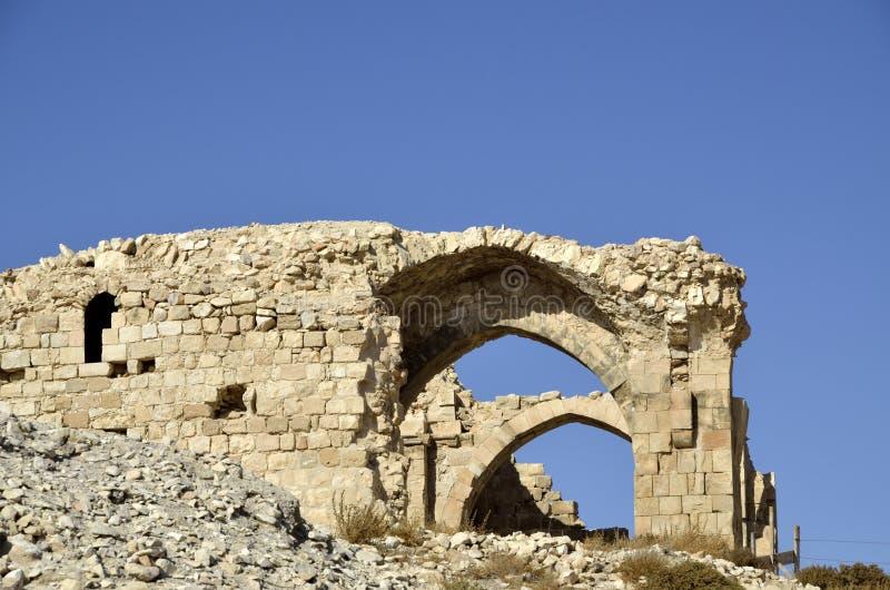 Ruines de Shobak de château. photos libres de droits