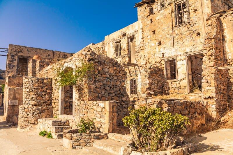 Ruines de Spinalonga photo stock