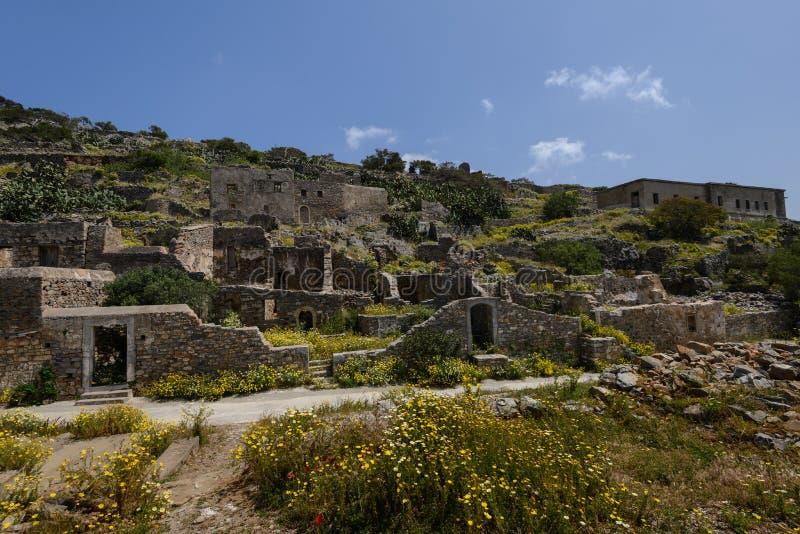 Ruines de Spinalonga images stock