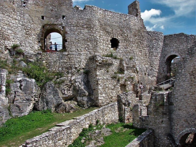 Ruines de Spis photographie stock