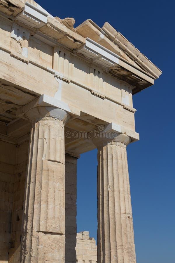 Ruines de temple à l'Acropole photo libre de droits