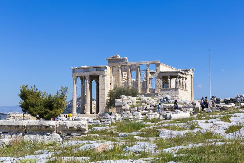 Ruines de temple d'Aphrodite image stock