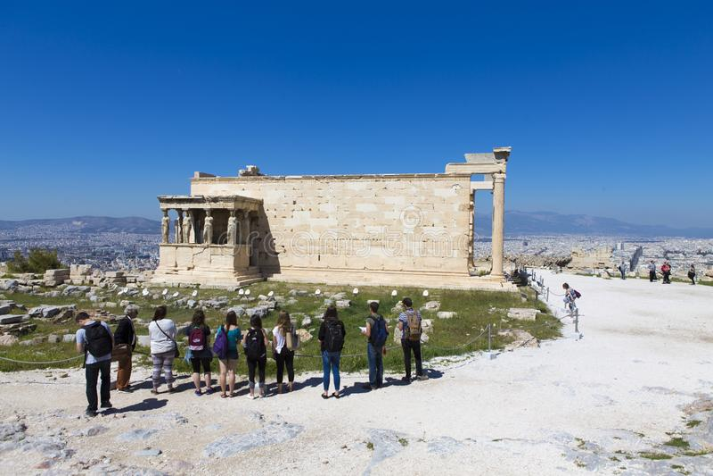 Ruines de temple d'Aphrodite sur le Panthéon image libre de droits