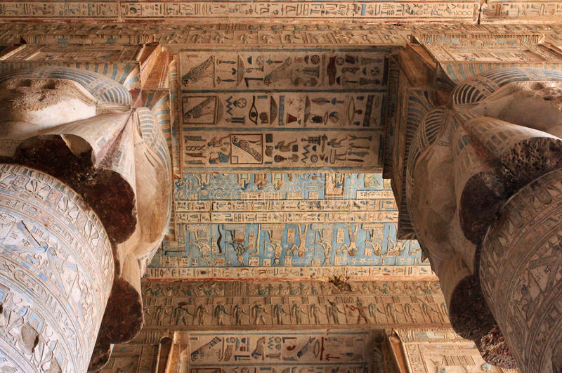 Ruines de temple de Dendera photos stock