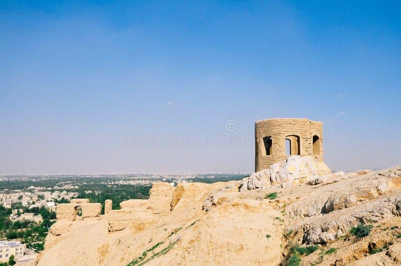 Ruines de temple du feu d'ère de Sassanian, Esfahan Isphahan image stock