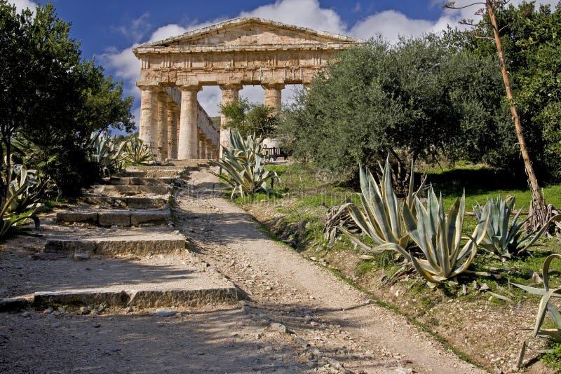 Ruines de temple du grec ancien de Segesta image libre de droits