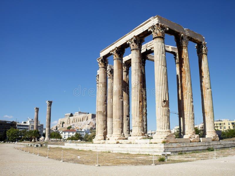 Ruines de temple olympique de Zeus photos stock
