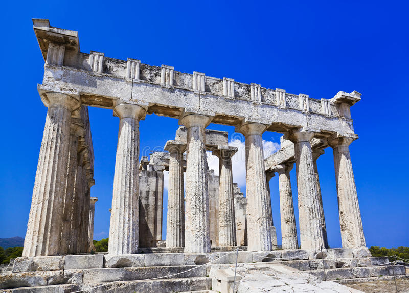 Ruines de temple sur l île Aegina, Grèce