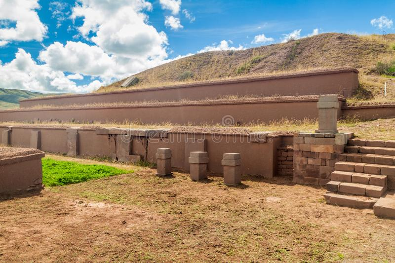 Ruines de Tiwanaku, Bolivie image stock
