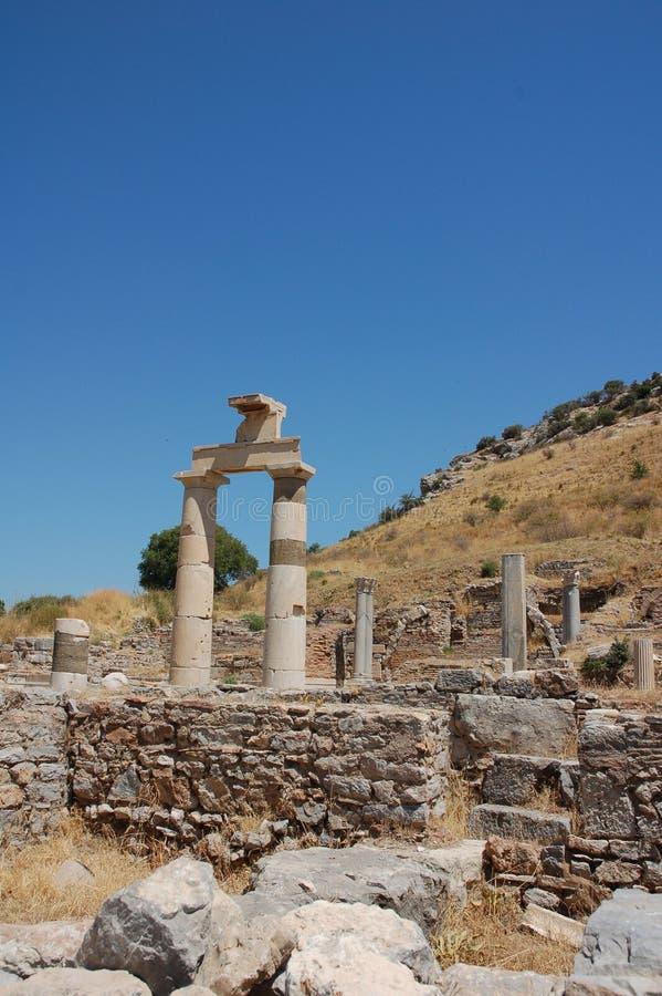 Ruines de ville antique d'Ephesus, Turquie photos stock