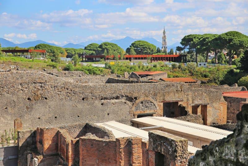 Ruines de ville antique Pompeii photos stock