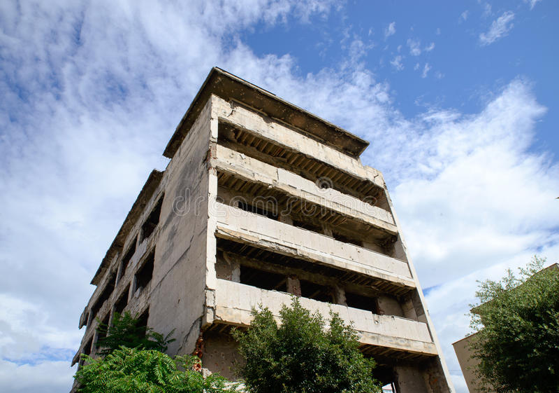 Ruines de ville de Mostar image stock