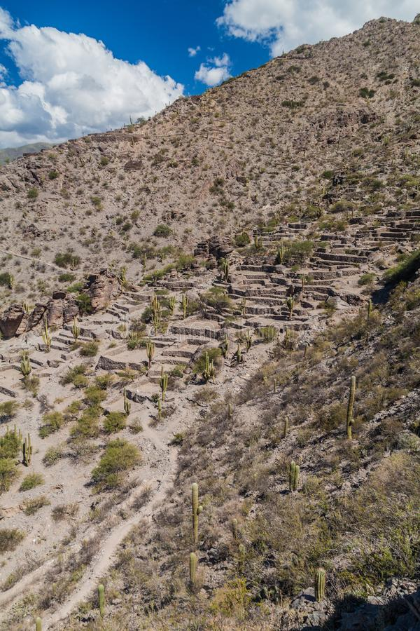 Ruines de ville Quilmes de pré-Inca image stock