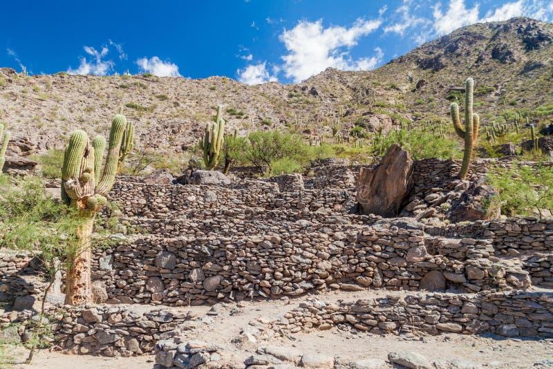 Ruines de ville Quilmes de pré-Inca images libres de droits