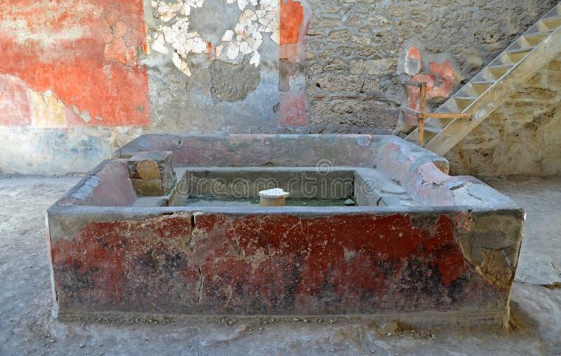 Ruines de ville romaine antique de Pompeii image stock
