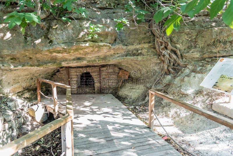 Ruines de ville de Troie dans Canakkale images libres de droits