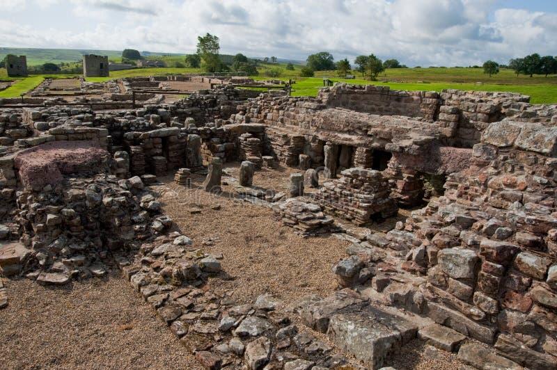 Ruines de Vindolanda photo libre de droits