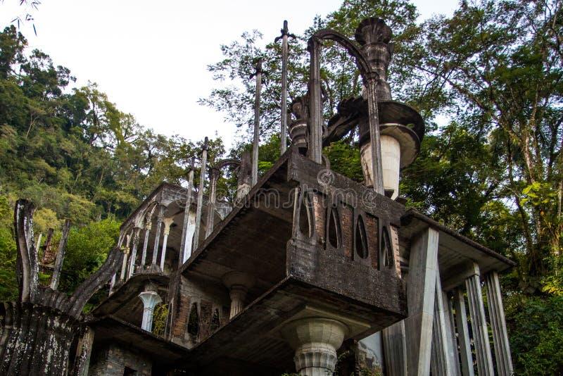 Ruines de Xilitla au Mexique images libres de droits
