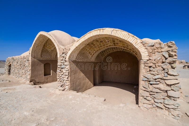 Ruines de Zoroastrian dans Yazd images stock