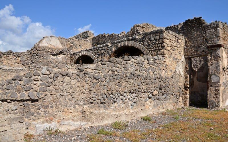 Ruines des maisons à Pompeii photo stock
